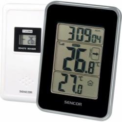 SWS 25 BS Sencor - meteostanice s bezdrátovým sensorem měření teploty, černá