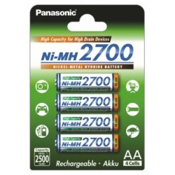 Baterie Panasonic BK-3HGAE, AA NiMH 2700mAh, blistr 4 ks