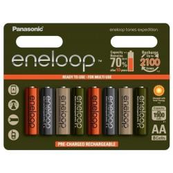Baterie Panasonic Eneloop Tones Expedition BK-3MCCE, AA 2000mAh, blistr 8ks