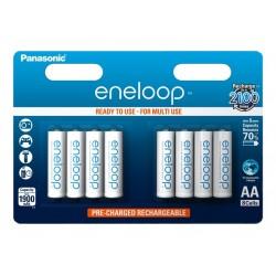 Baterie Panasonic Eneloop BK-3MCCE, AA 2000mAh, blistr 8ks