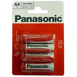 R6R/4BP Panasonic - AA tužková Zinc baterie v blistru, balení 4ks (cena za 1ks)