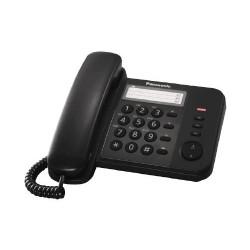 KX-TS520FXB Panasonic - domácí telefon s praktickými funkcemi, LED indikace, 3x jednotl. volba, černá