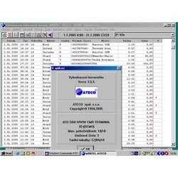 TARPR-PTD-16 ATECO - tarifikační SW - 32 bit. k ústř. KX-TD1232/816, KX-TDA100/200/15/30 do 16 poboček Panasonic