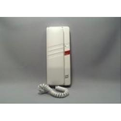 4FP21052.201 Tesla - Domácí telefon DT93 s 1 tl. na EZ + 1 tl. na protist., elektron. vyzv. (bílý)