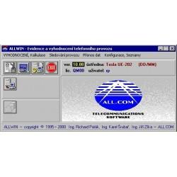 TARPR-ALLW-512ALLGET ALLWIN - tarifikační program pro 512 poboček (Alcatel, Panasonic)