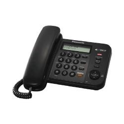 KX-TS580FXB Panasonic - jednolinkový tel., displej, hlasitý tel., CLIP, barva černá