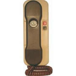 4FP21037.05 Tesla - Domácí telefon DT85 s 1 tl. na EZ + 1 tl. na protist.- elektron.vyzvánění (hnědo-béžový)