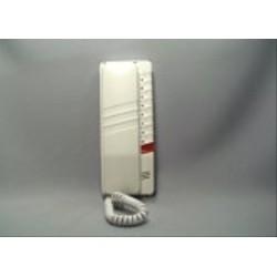 4FP21055.201 Tesla - Domácí telefon DT93 s 1 tl. na EZ + 8 tl. na protist. - elektron. vyzvánění (bílý)
