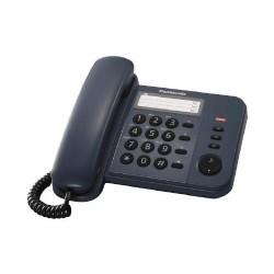KX-TS520FXC Panasonic - domácí telefon s praktickými funkcemi, LED indikace, 3x jednotl. volba, modrá