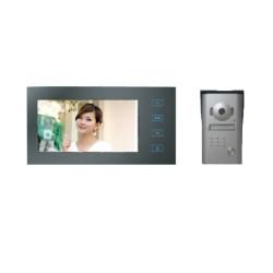 """RL-10M Emos - sada barevného videotelefonu a kamerové jednotky s 7"""" LCD displejem, černá barva"""