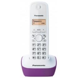 KX-TG1611FXF Panasonic - DECT bezdrátový telefon, 1-řádkový podsvícený displej, CLIP, české menu, barva purpurová