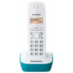 KX-TG1611FXC Panasonic - DECT bezdrátový telefon, 1-řádkový podsvícený displej, CLIP, české menu, modrý (aqua)