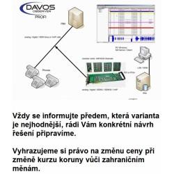 DOP8DSPCI-R Davos nahrávání hovorů, 8 digitálních linek, sada pro instalaci do PC