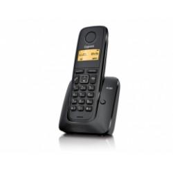 GIGASET-A120-BLACK Gigaset - DECT/GAP bezdrátový telefon, jednoduchý, seznam na 50 jmen, až 4 sluchátka, barva černá