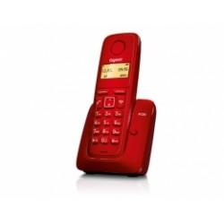 GIGASET-A120-RED Gigaset - DECT/GAP bezdrátový telefon, jednoduchý, seznam na 50 jmen, až 4 sluch., barva červená