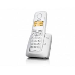GIGASET-A120-WHITE Gigaset - DECT/GAP bezdrátový telefon, jednoduchý, seznam na 50 jmen, 4 sluchátka, barva bílá