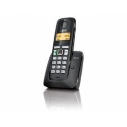 GIGASET-A220-BLACK Gigaset - DECT/GAP bezdrátový telefon, barva černá