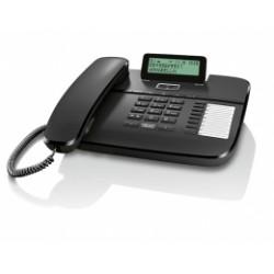 GIGASET-DA710-BLACK Gigaset - standardní telefon s displejem, CLIP, konektor pro náhlavní soupravu RJ9, handsfree, černá
