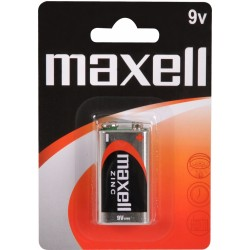 6F22/1BP-M Maxell - baterie 9V zinkochloridová, v blistru
