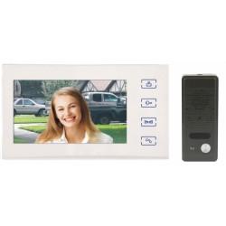 """RL-10B Emos - sada barevného videotelefonu a kamerové jednotky s 7"""" LCD displejem, bílá barva"""