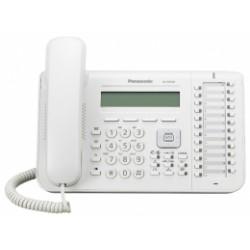 KX-DT543X Panasonic digitální telefon s podsvětleným 3-řádkovým displejem, 24 programovatelných tlač., bílý