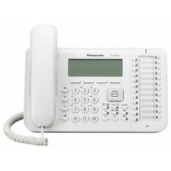 KX-DT546X Panasonic digitální telefon s velkým podsvětleným 6-řádkovým displejem, 24 program. tlač., bílý