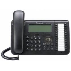 KX-DT546X-B Panasonic digitální telefon s velkým podsvětleným 6-řádkovým displejem, 24 program. tlač., černý