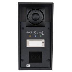 ATEUS-9151101RPW 2N IP Force, dveřní interkom, 1 tl., příprava pro čtečku karet, piktogramy, 10 W repro