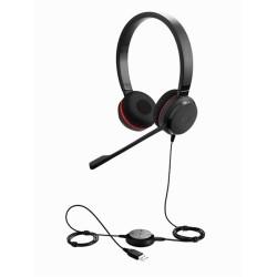 EVOLVE-30-II-STEREO Jabra - náhlavní souprava pro PC a mobil, USB+3,5 mm jack, spona přes hlavu, na obě uši