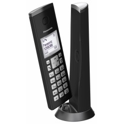 KX-TGK210FXB Panasonic - DECT bezdrátový telefon, jedinečný nadčasový design, 3-řádk. dis., LED indikátor, černá