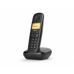 GIGASET-A170-BLACK Gigaset - DECT/GAP bezdrátový telefon, seznam na 50 jmen, CLIP,  až 25 zmeškaných hovorů,barva černá
