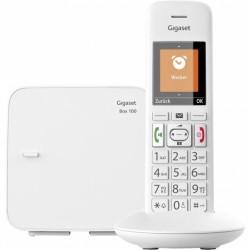 GIGASET-E370 Gigaset - DECT/GAP bezdrátový telefon, dětská chůvička, SOS funkce, barva bílá