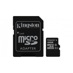 SDCS/16GB Kingston - paměťová karta 16GB Micro SecureDigital (SDHC) Card, Class 10 UHS-I + SD adaptér