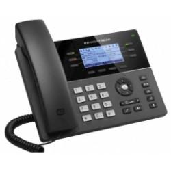 GXP-1760W Grandstream - IP telefon, LCD, 3x SIP účty, 6x linek, 2x RJ45 Mb, POE, 4x prog. tl., 24x dBLF, WIFI