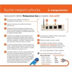 ENERGO-600940 Energomonitor - sada BASIC Relaysense Gas (základna HomeBase 6 + sonda na plynoměr)