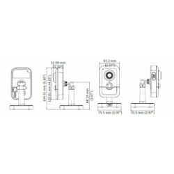 DS-2CD2423G0-I/28 Hikvision - 2MPix IP kamera cube; WDR+ICR+IR+PIR; obj. 2,8mm, POE