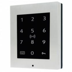 ATEUS-9160336-S 2N® Access Unit 2.0 Touch keypad a RFID, IP čtečka 125 kHz, secured 13,56 MHz, NFC, bez rámečku