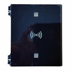ATEUS-M VER17002 Q 2N IP Verso, náhradní plastový kryt RFID čtečky se symbolem, výklopný, černý