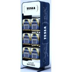 STOJAN-TESLA-6 Tesla - stojan na baterie - 6 háčků (na cca 72 blisterů)