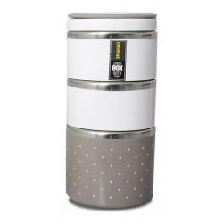 TM-123brown ELDOM Promis - trojdílný thermobox na potraviny, hnědá