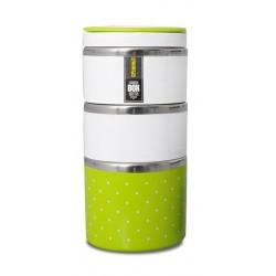 TM-123green ELDOM Promis - trojdílný thermobox na potraviny, zelená