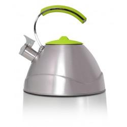 TMC-06-Adriano ELDOM Promis - nerezová konvice pro ohřev vody s objemem 3 litry, zelené víko