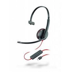 BLACKWIRE-C3210-USB-C Plantronics - náhlavní souprava pro PC/mobil na jedno ucho, spona přes hlavu, tl. přijmu, USB-C